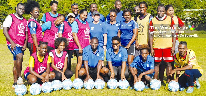 Image: Coaches set to make a change in women football in Saint Lucia (Photo: Anthony De Beauville)