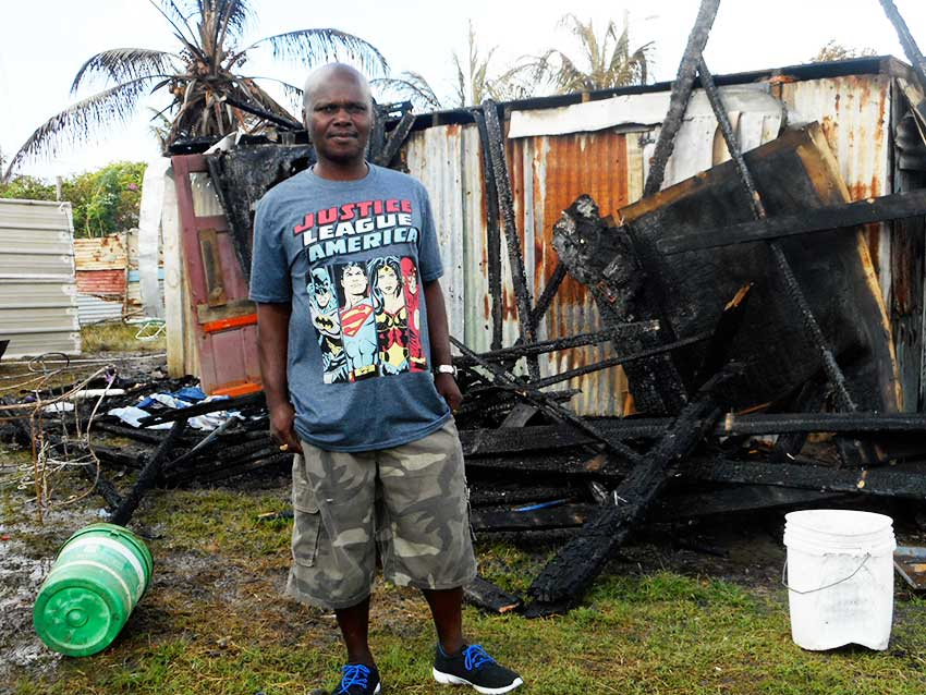 Image of Dantes in front of what used to be his home.