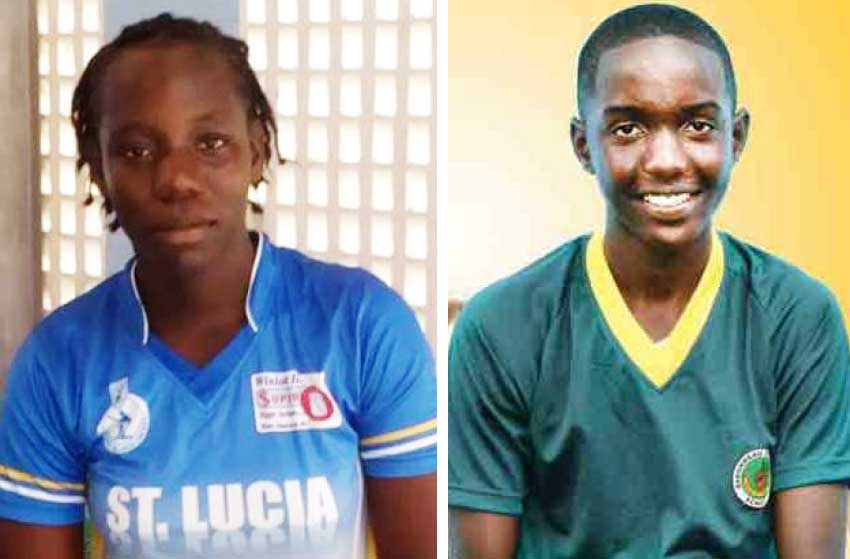 Image: (L-R) Female West Indies cricketer Qiana Joseph played for the Windies in this year's ICC World Cup in England; West Indies selectee Kimani Melius is on Windies ICC Under-19 World Cup Squad for 2018.