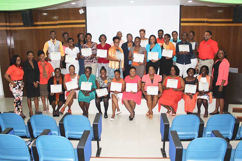 Image: Graduates from the recently-completed high-level certification programme.