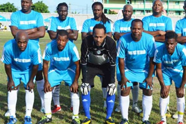 Image: Image: (L-R)Gros Islet and LabowiConnextions played to a 1-1 draw. (PHOTO: Anthony De Beauville)
