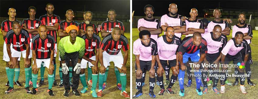 Image: (L-R) Group B quarterfinalists Anse la Raye and Central Vieux Fort. (PHOTO: Anthony De Beauville)