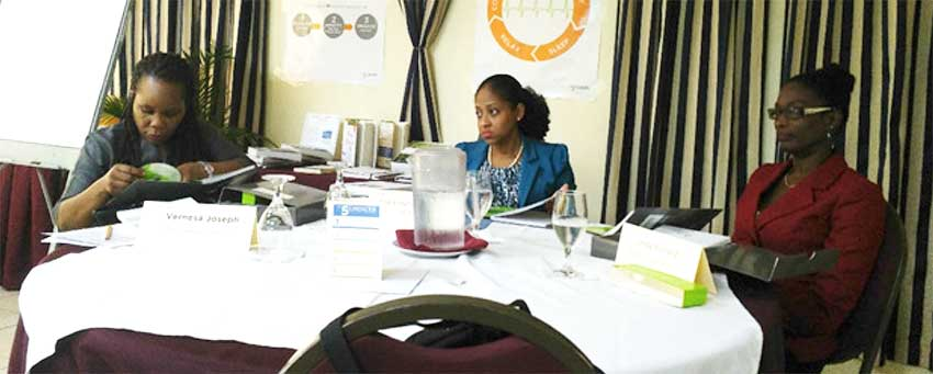 Image: Participants at 5 Choices to Extraordinary Productivity Workshop held in Saint Lucia in November.