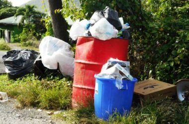 Photo of the dumping area at Mon Repos Hill, Laborie, where the garbage with the fetus was allegedly collected. A skip bin is usually placed there.