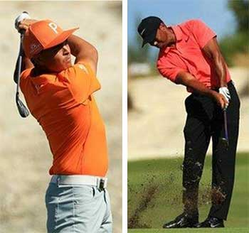 Image: Rickie Fowler hit his lowest score in a PGA Tour event to win the Hero World Challenge; Tiger Woods won the last of his 14 majors in 2008 and his last tournament in 2013. (PHOTO: Getty Images)