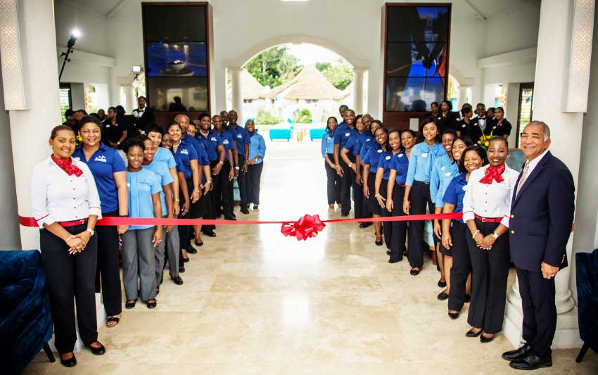 Image: Sandals Team Members on hand for the official opening of Sandals Royal Barbados.