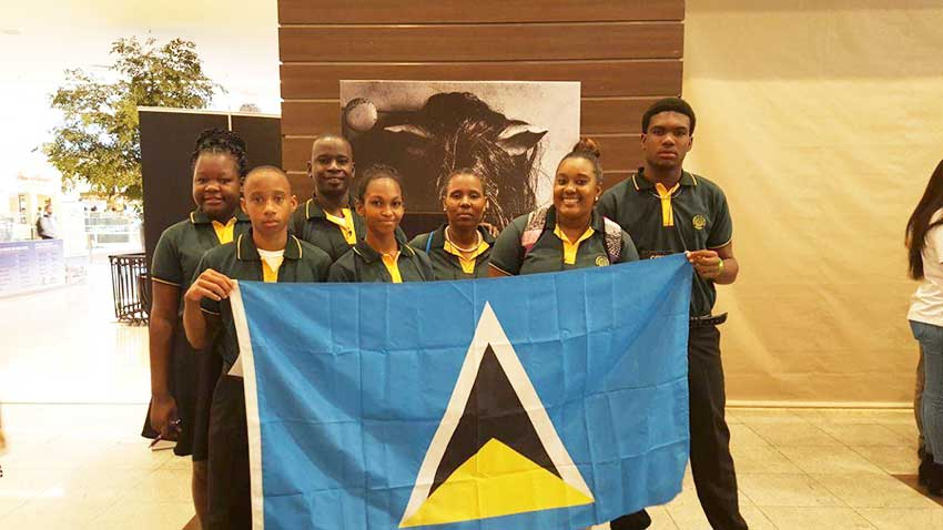Image: St. Lucian team on arrival in Brazil.