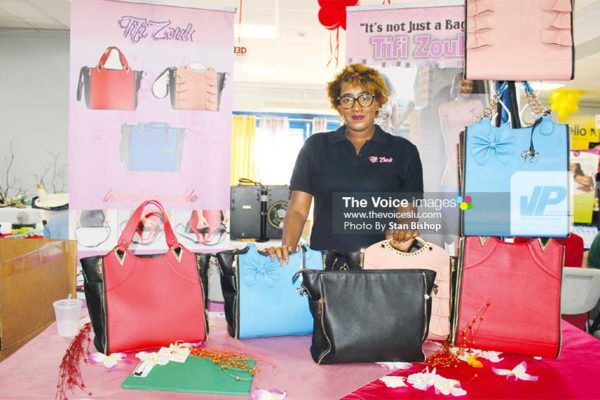 Image: Tifi Zouk's Noelina St. Ange is not your average bag lady. [PHOTO: Stan Bishop]