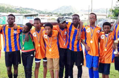 Image: A picture moment for VSA as they celebrate their CCC Youth Tournament victory.