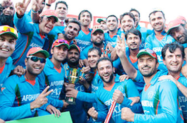 Image of Afghanistan cricketers