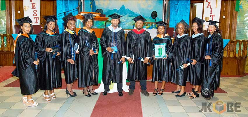 Image: The recent graduating class of South-eastern Caribbean College.