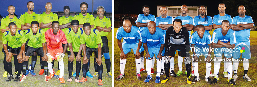 Image: (L-R) All Blacks: Dennery will play Gros Islet Veterans. (PHOTO: Anthony De Beauville)
