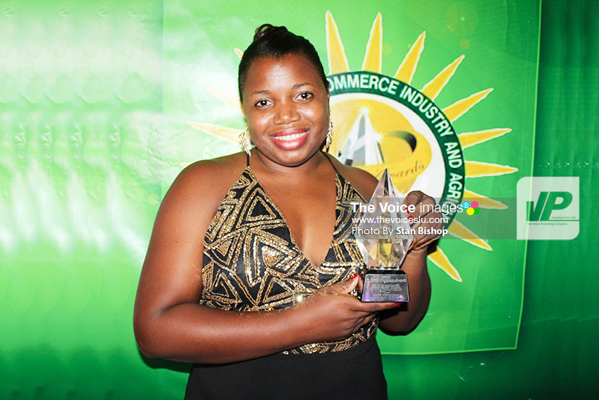 Image: First Citizens Investment Services Country Manager, Arletta Huntley-Wells, accepted the Award for Service Exporter of the Year. [PHOTO: Stan Bishop]