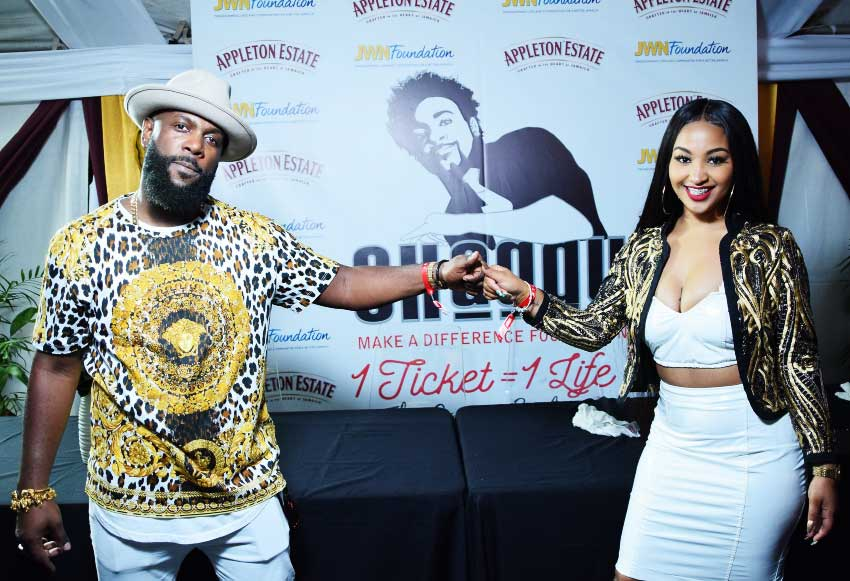 Image of Bunji Garlin and Shenseea team up for a charitable cause.
