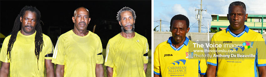 Image: (L-R) Caricom Masters and Labowi Connextions players all set for the showdown (Photo: Anthony De Beauville)