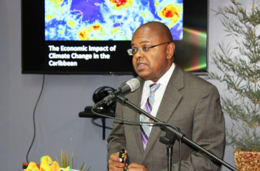 Image of Dr. James Fletcher delivering his remarks at last Thursday's Sir Arthur Lewis Memorial Lecture.