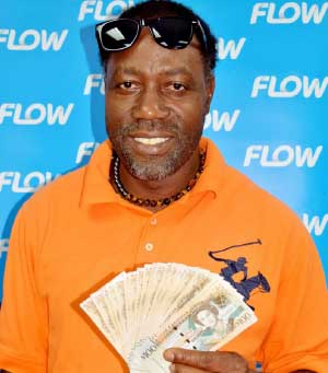 Image of Vieux Fort electrician Dudley Etienne was a $2000 cash winner!