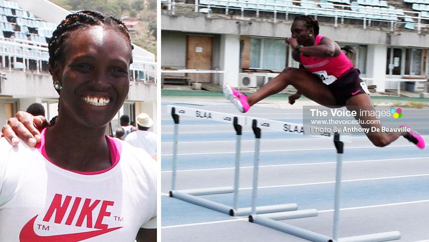 Image: Heptathlon athlete, Makeba Alcide. (Photo: Anthony De Beauville)