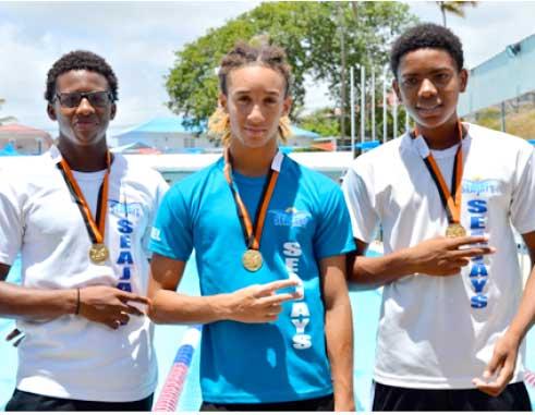 Image: (l-r) Jamaar Archibald, TerrelMonplaisir, JayhanOdlum-Smith and Devin Boodha. (Photo: Anthony De Beauville)