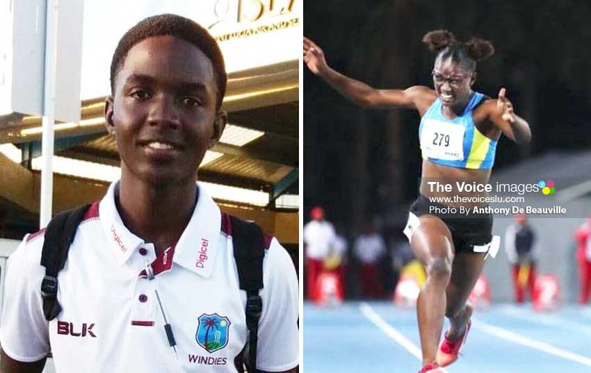 Image: U-19 World Cup selectee Kimani Melius;Julien Alfred wins gold at Commonweath Youth Games in the Bahamas.(Photo: Anthony De Beauville)