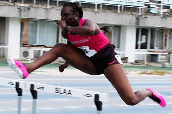 Image of Heptathlon athlete, Makeba Alcide. (Photo: Anthony De Beauville)