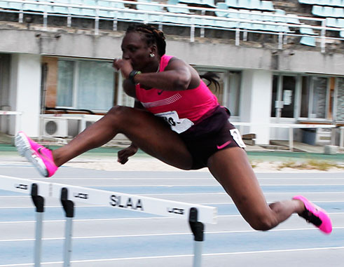 Image of Heptathlon athlete, Makeba Alcide. (Photo: Anthony De Beauville)