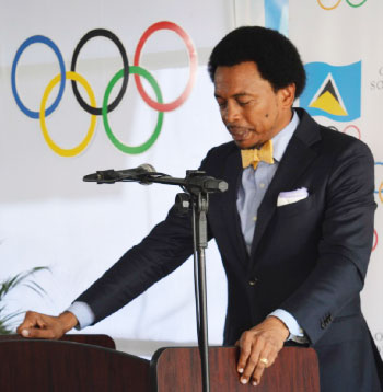"Image of President of Trinidad and Tobago Olympic Committee Brian Lewis says, ""What we don't want to do as an Olympic Committee and as a Commonwealth Games Association is make the difficult choice to leave athletes and teams at home."""