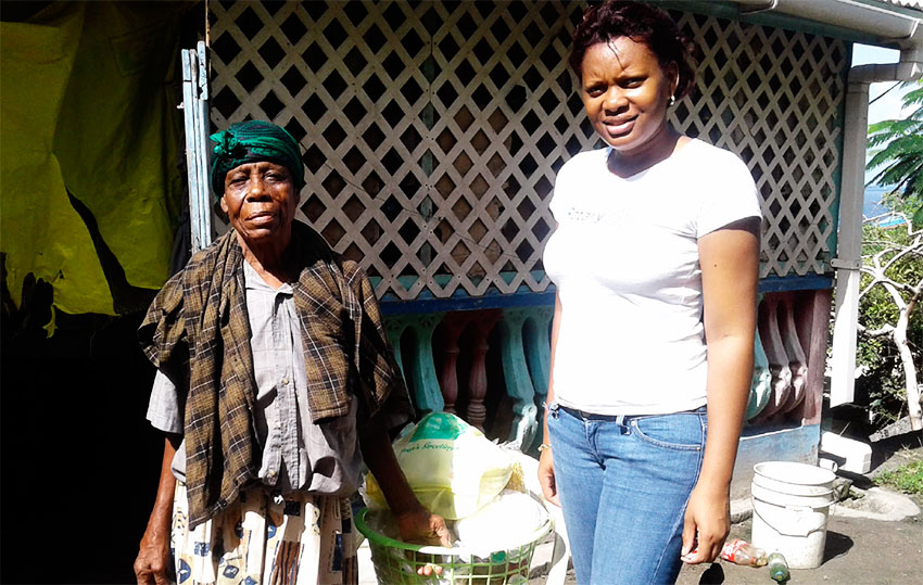 Image: Rotary Club of Gros Islet delivering hampers last Christmas.