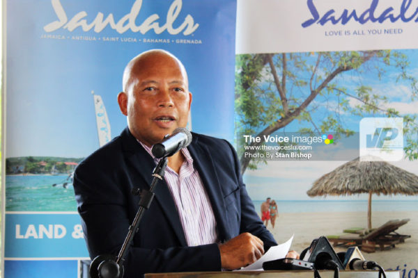 Image of Sandals Saint Lucia Resorts Managing Director, Winston Anderson. [PHOTO: Stan Bishop]