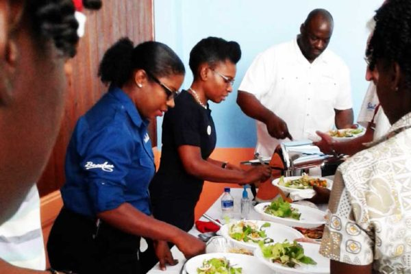Image: Sandals Team Members hard at work for the Boxing Day lunch.