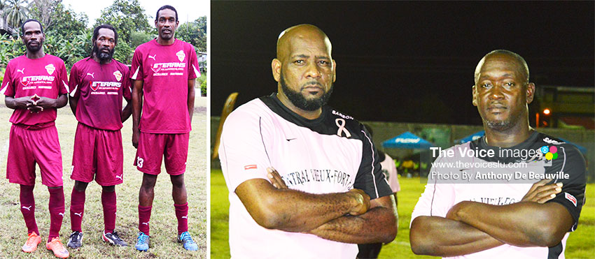 Image: (L-R) Who will it be when Soufriere and Central Vieux Fort clash for the Gold Cup semifinal No.2 (Photo: Anthony De Beauville)