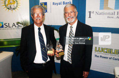 Image: Tony and Dunstan DuBoulay at last year's Saint Lucia Business Awards. -- PHOTO -- Stan Bishop