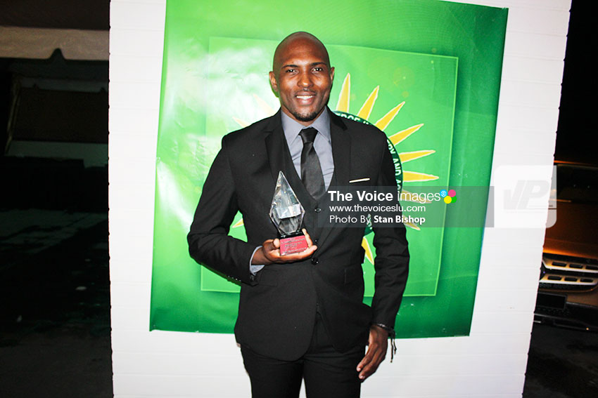 Image: Vernon Jean of Easy Click Solucians won the Idea of the Year Award. [PHOTO: Stan Bishop]