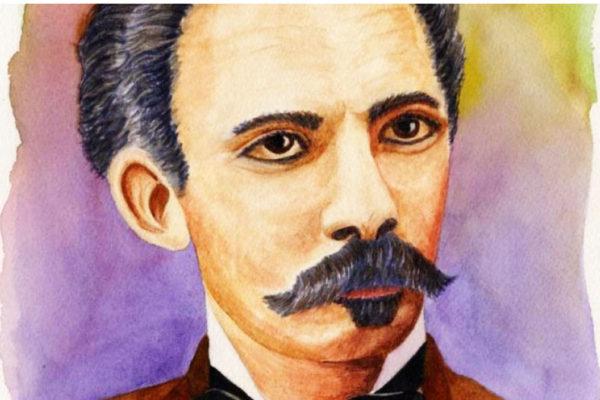 A portrait of Jose Marti.