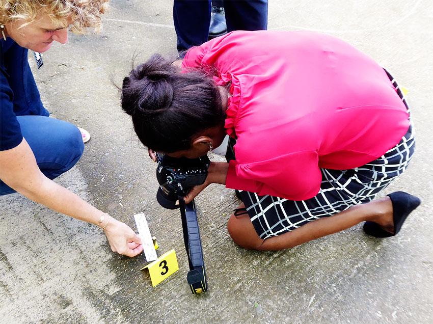 Image: A workshop participant gets hands-on training.