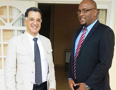 Ambassador Esparza and MP Edward meet last Monday.