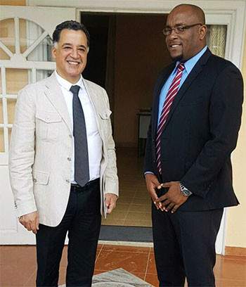 Image of Ambassador Esparza and MP Edward meet last Monday.