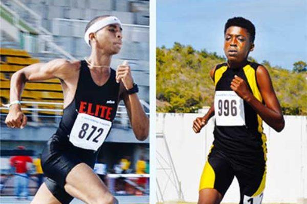 Image: (L-R) Armani Modeste (200m, 400m), Taric Xavier (800m, 1500m), Albert Reynolds (Javelin). (Photo: Anthony De Beauville)