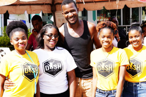 Image of Cricketer Daren Sammy with DASHers at this year's DASH launch.