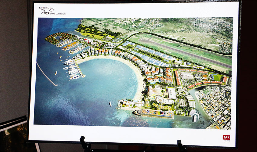 Image of a design concept for site of cruise terminal.