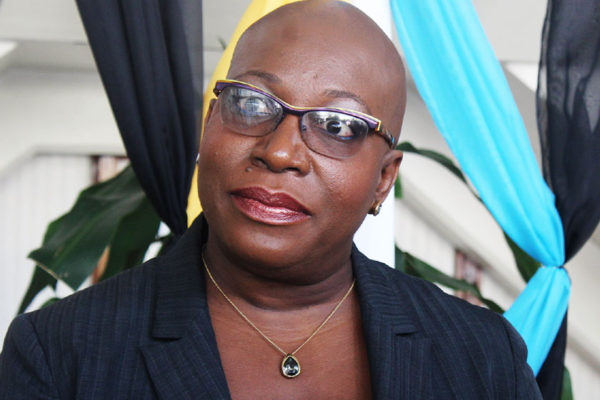 Image of Minister for Education, Innovation, Gender Relations and Sustainable Development, Dr. Gale Rigobert