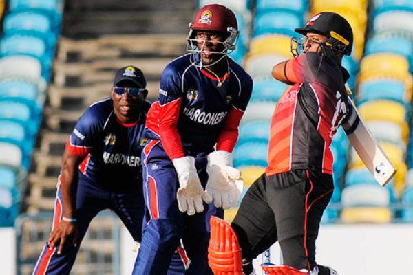 Evin Lewis targets the leg side