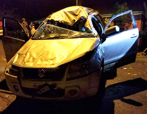 Image of fatal accident on La Retraite road