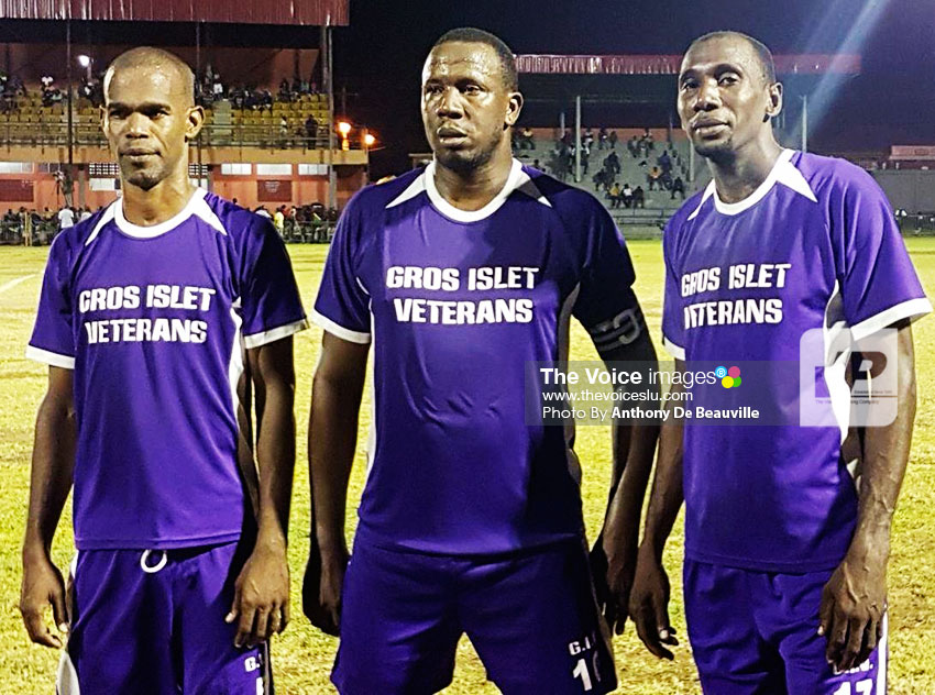 Image of Gros Islet trio Sherman Sylvester, Francis Lastic and Roger Celestine