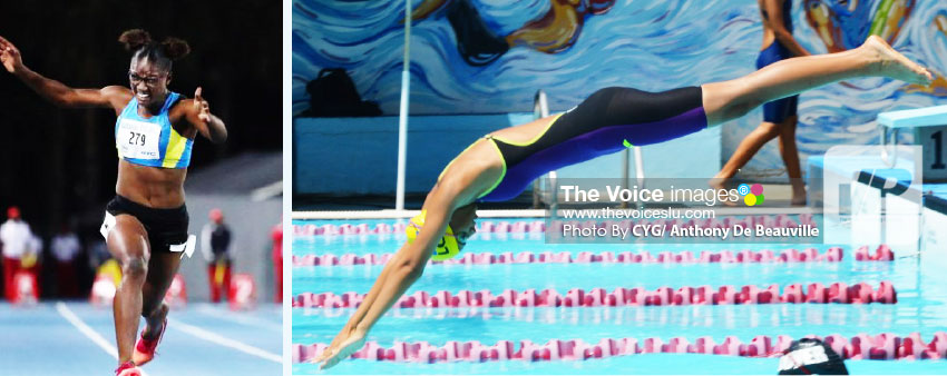Image: (L-R) Julien Alfred (athletics) and Katie Kyle (swimming). (PHOTO: CYG/ Anthony De Beauville)