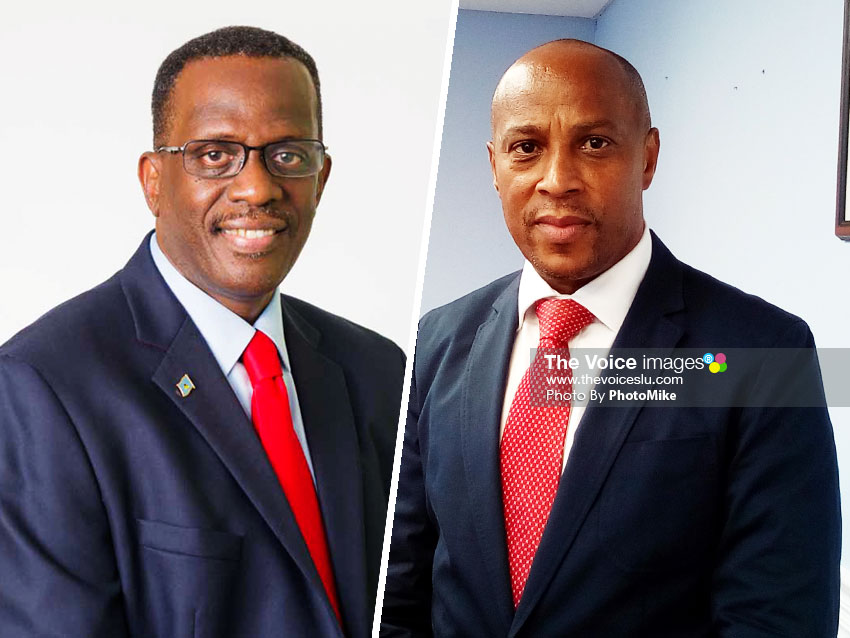Image of Leader of the St. Lucia Labour Party (SLP), Philip J. Pierre & Chief Executive Officer of the Citizenship by Investment Programme, Nestor Alfred