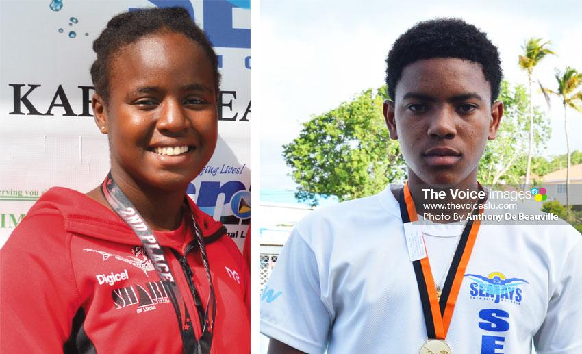 Image: (l-r) SLASA nominees Mikaili Charlemagne (Sharks) and JayhanOdlum-Smith. (Photo: Anthony De Beauville)