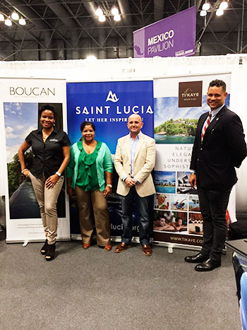 Image of SLTA representatives at the New York Times Travel Show.