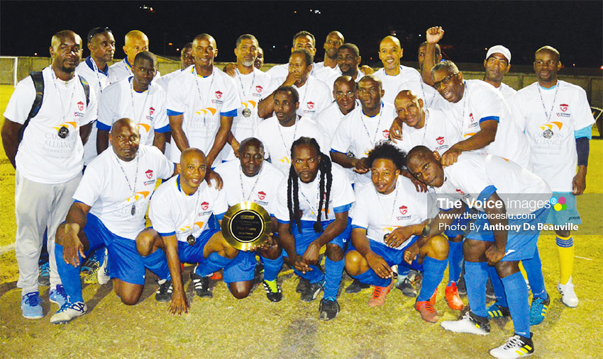 Image: Second place team, CARICOM Masters..(PHOTO: Anthony De Beauville)