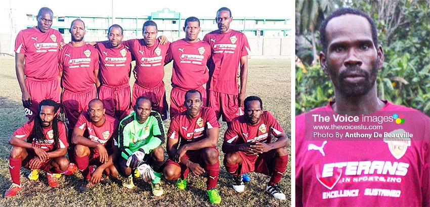 Image: Soufriere; lead goal scorer, Jerome Serville (8) (Photo: Anthony De Beauville)